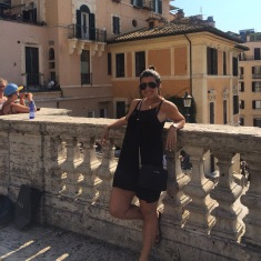 Spanish Steps and it was way too hot.