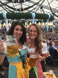 Maria celebrated her 20th birthday at Oktoberfest! Now that's a party.