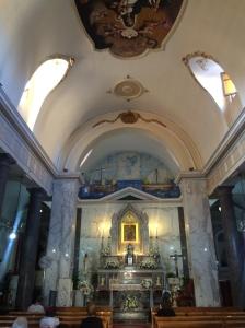 The church of Madonna del Lume in Porticello.