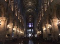 Inside Notre Dame.
