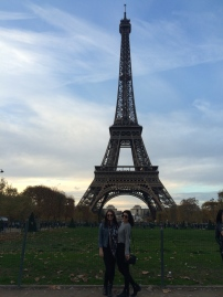 Michelle & I at the Eiffel Tower!