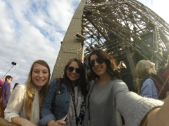 On the Eiffel Tower!